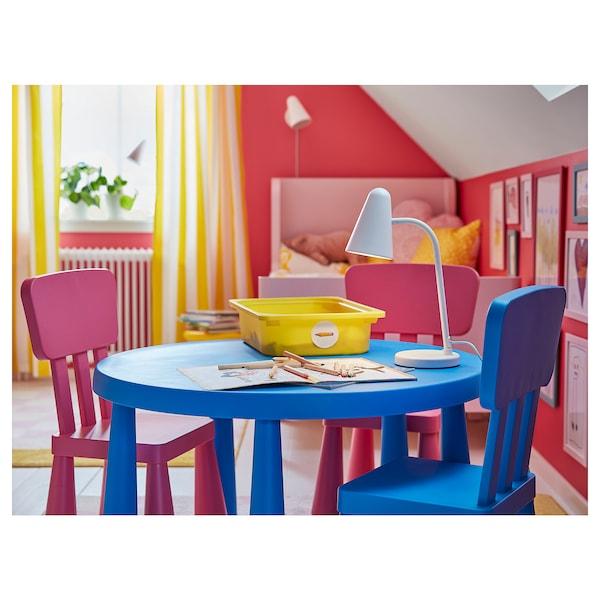 """MAMMUT children's table indoor/outdoor blue 18 7/8 """" 33 1/2 """""""