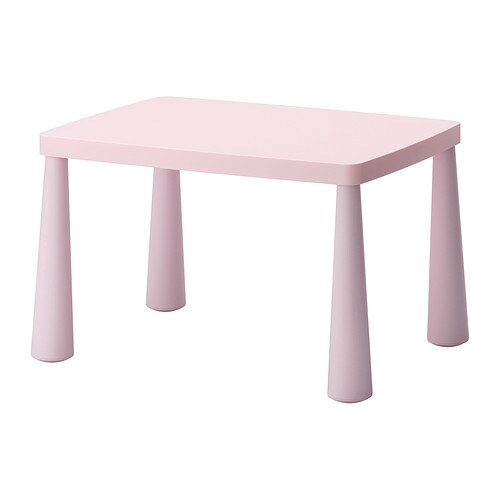 MAMMUT Children's table, light pink indoor/outdoor light pink indoor/outdoor light pink 30 3/8x21 5/8