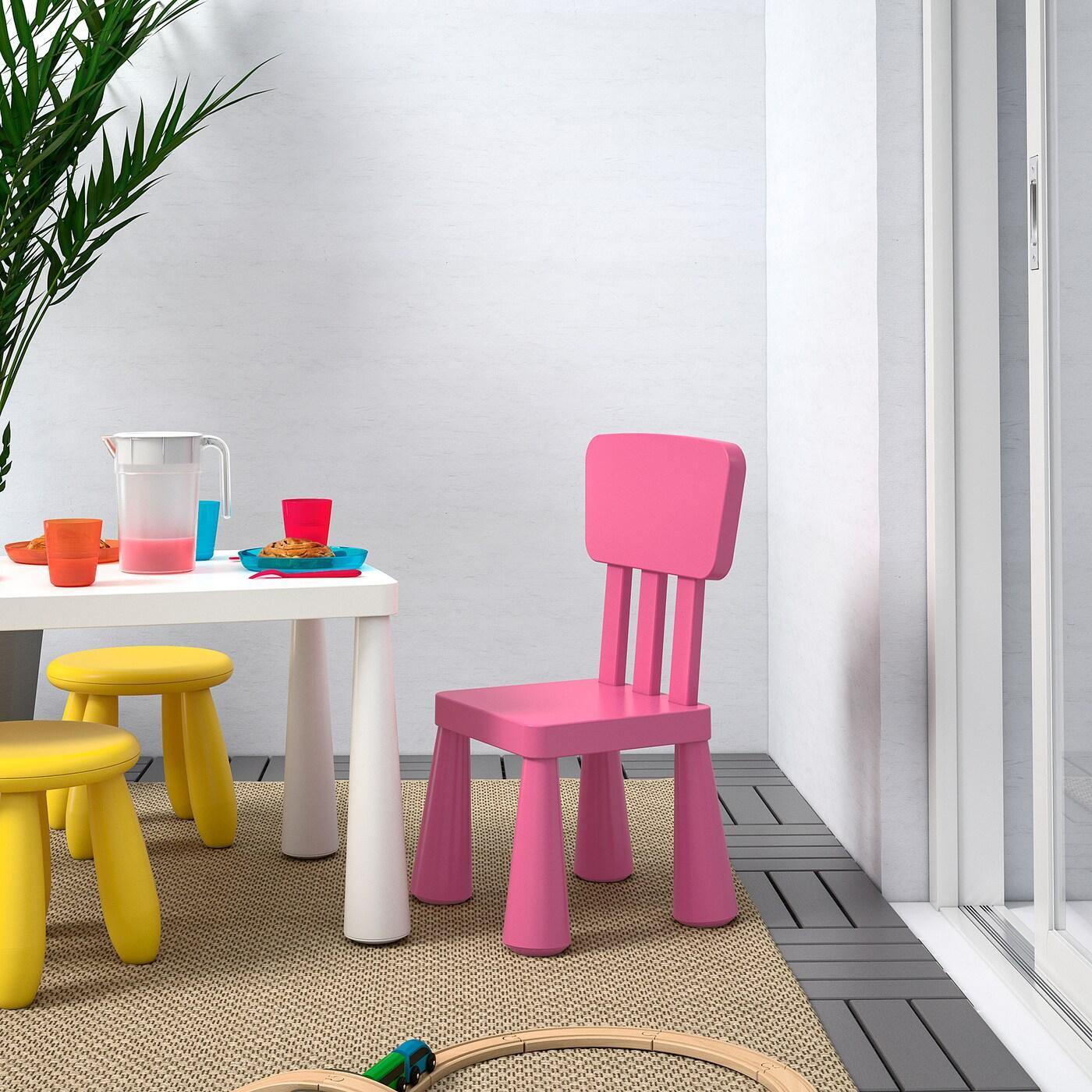 MAMMUT Children's chair, indoor/outdoor/pink
