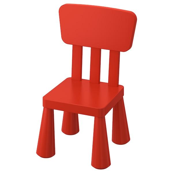 MAMMUT Children's chair, indoor/outdoor, red - IKEA