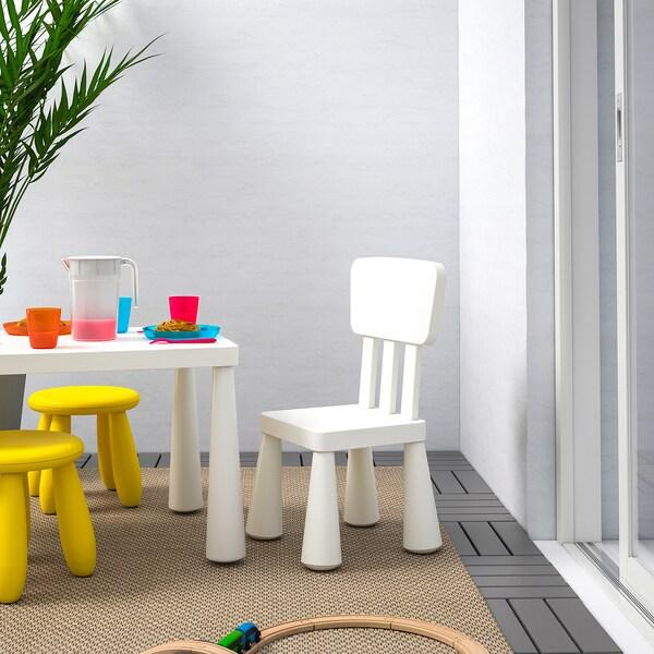 MAMMUT Children's chair, indoor/outdoor/white