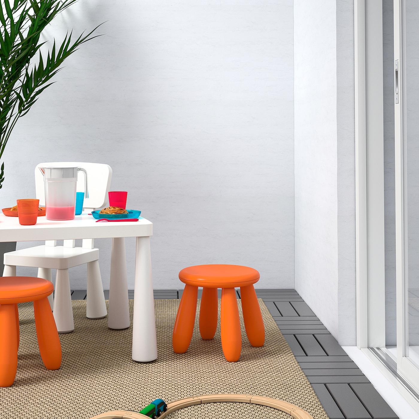 MAMMUT Children's stool, indoor/outdoor/orange