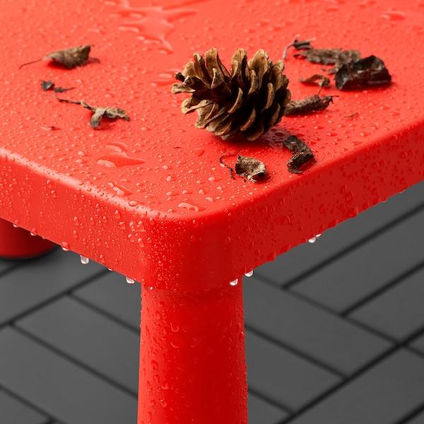"""MAMMUT Children's table, indoor/outdoor red, 30 3/8x21 5/8 """""""