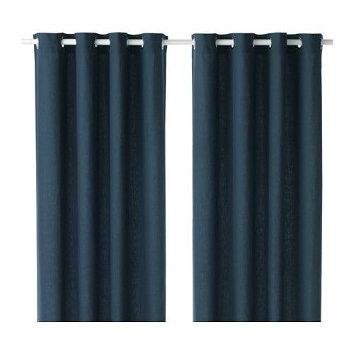 MARIAM Curtains, 1 pair, blue blue 57x98