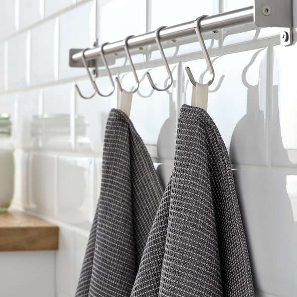 "MARIATHERES Dish towel, gray, 20x28 """