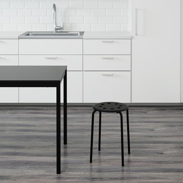 """MARIUS stool black 220 lb 12 5/8 """" 15 3/4 """" 17 3/4 """""""