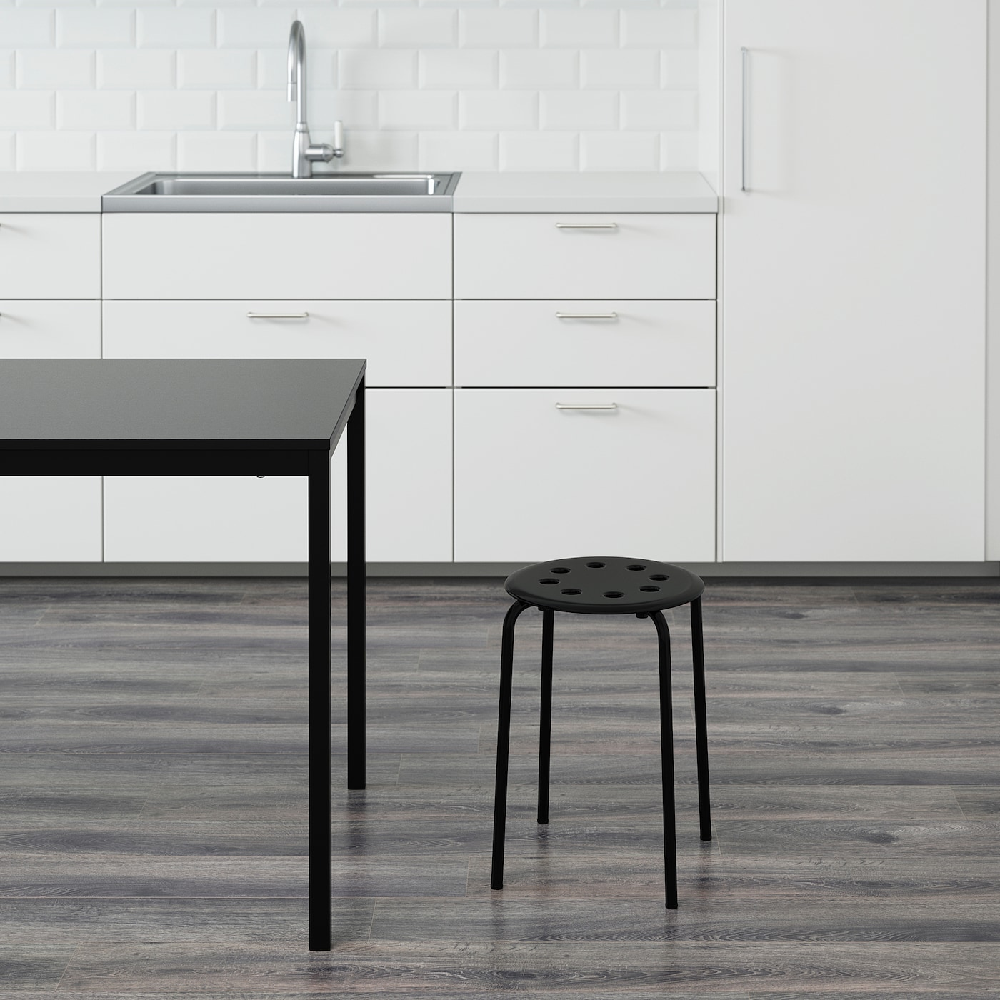 IKEA MARIUS Stool Multipurpose Kitchen Breakfast Bar Dining Stool Durable Strong