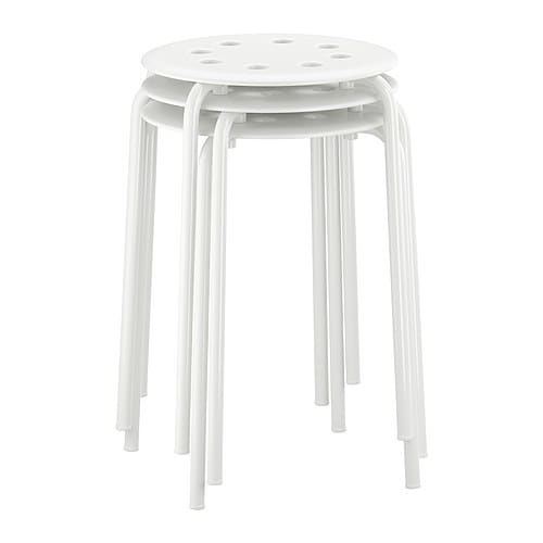 MARIUS Stool IKEA The stool can be stacked, so you can keep several on hand and store them in the same space as one.
