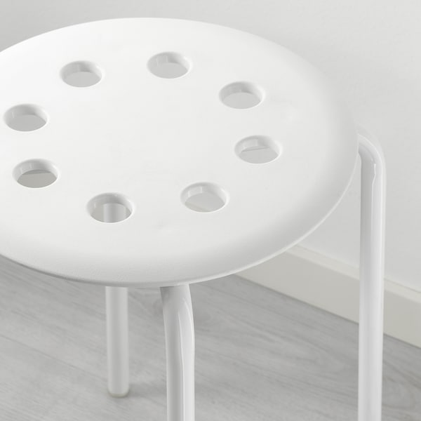 "MARIUS stool white 220 lb 12 5/8 "" 15 3/4 "" 17 3/4 """