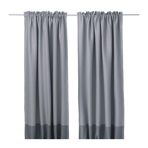 MARJUN Blackout curtains, 1 pair, gray gray 57x98