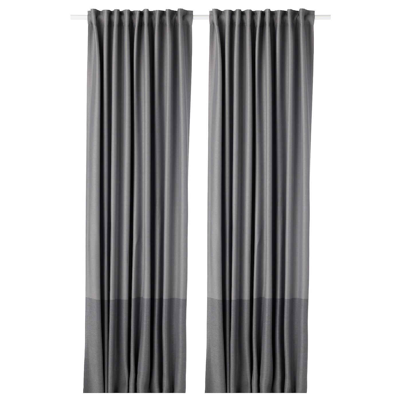 Marjun Blackout Curtains 1 Pair Gray