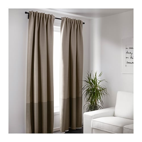 Curtains Ideas cheap brown curtains : MARJUN Block-out curtains, 1 pair - IKEA