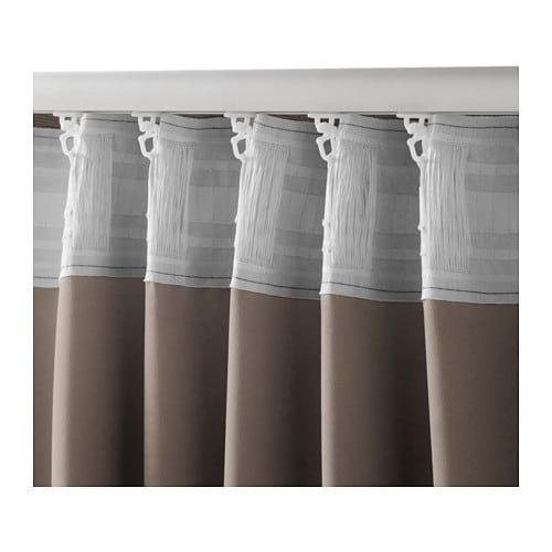 Curtains Ideas beige and brown curtains : MARJUN Block-out curtains, 1 pair - IKEA