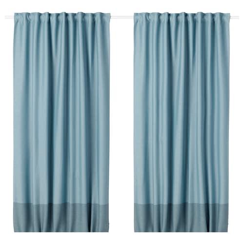 IKEA MARJUN Room darkening curtains, 1 pair