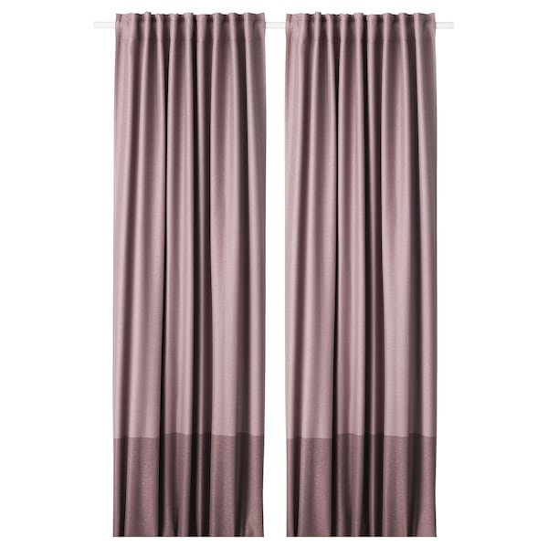 IKEA MARJUN Room darkening curtains, 1 pair