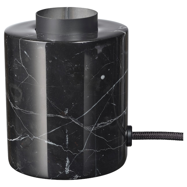 MARKFROST Table lamp with LED bulb, marble black