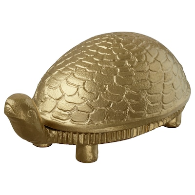 MARKNIVÅ Tealight holder, turtle brass color, 2 ""