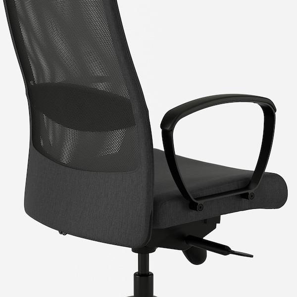 "MARKUS office chair Vissle dark gray 242 lb 8 oz 24 3/8 "" 23 5/8 "" 50 3/4 "" 55 1/8 "" 20 7/8 "" 18 1/2 "" 18 1/8 "" 22 1/2 """