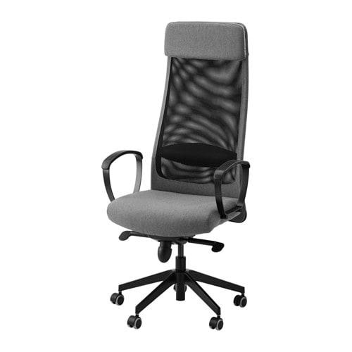 Markus swivel chair vissle gray ikea - Poltrone ufficio ikea ...