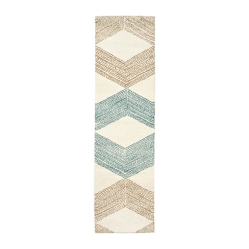 Marslev rug high pile ikea for Couloir turquoise