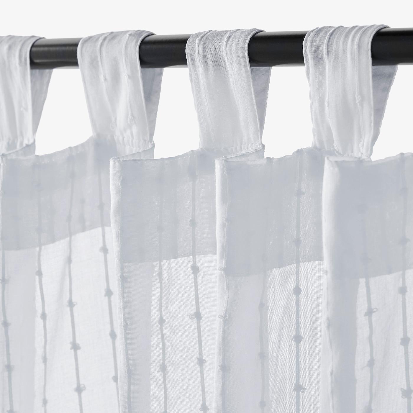 Matilda Sheer Curtains 1 Pair White Ikea