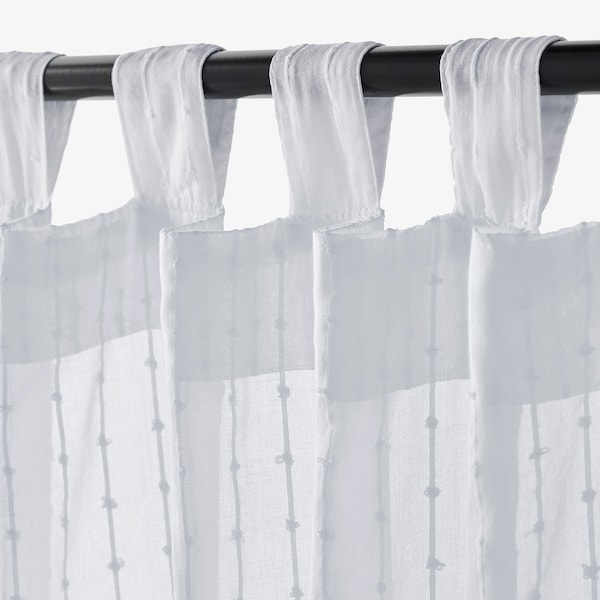 """MATILDA Sheer curtains, 1 pair, white, 55x98 """""""