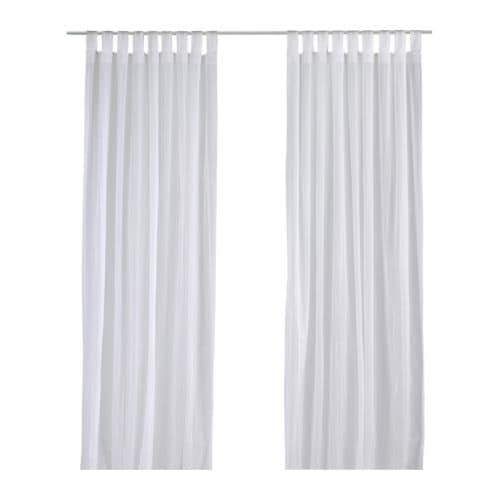 matilda sheer curtains 1 pair - White Sheer Curtains