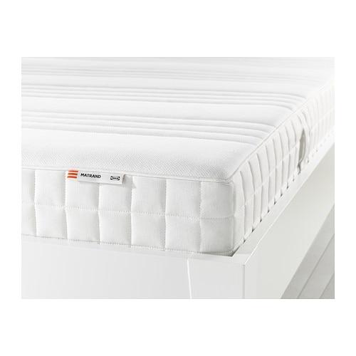 MATRAND Memory foam mattress, firm, white Queen firm/white