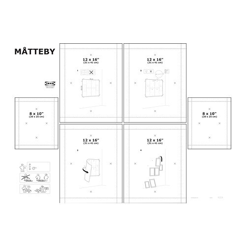 MÅTTEBY Wall hanging template, set of 4 - IKEA