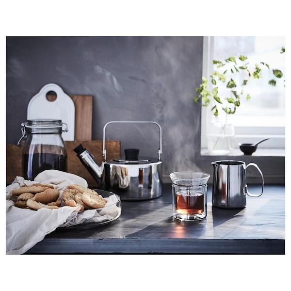 MÅTTLIG Milk-frothing jug, stainless steel, 17 oz