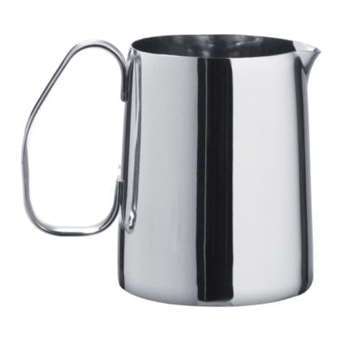 MÅTTLIG Milk-frothing jug, stainless steel