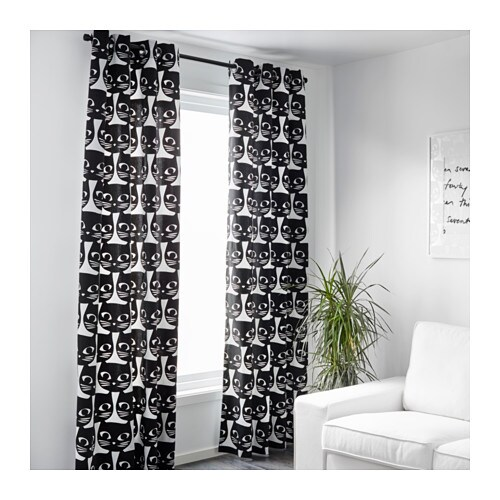 White Curtains black and white curtains : MATTRAM Curtains, 1 pair - IKEA