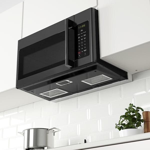 MEDELNIVÅ Over the range microwave, black Stainless steel