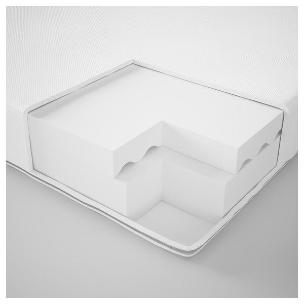 MEISTERVIK Foam mattress, firm/white, Twin