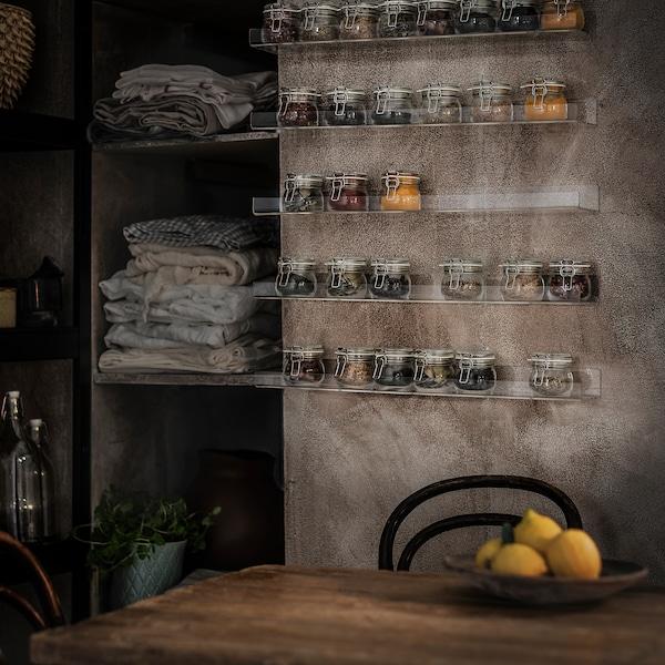 """MELLÖSA Picture ledge, transparent, 23 5/8 """""""