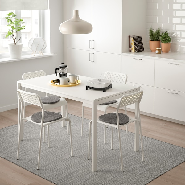 Table and 4 chairs MELLTORP / ADDE white