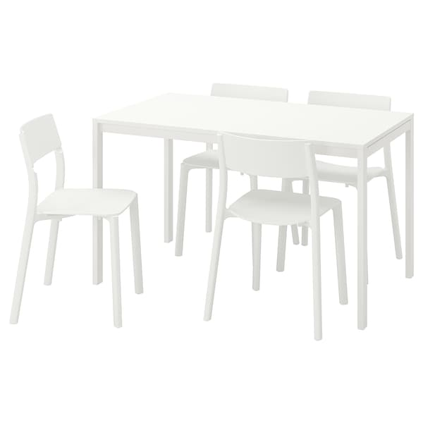 Love Seats Stoelen.Melltorp Janinge Table And 4 Chairs White White Ikea