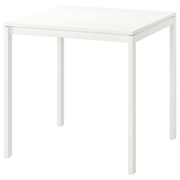 "MELLTORP Table, white, 29 1/2x29 1/2 """