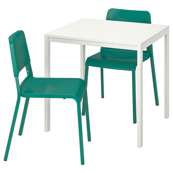 Superb Table And 2 Chairs Melltorp Teodores White Green Ibusinesslaw Wood Chair Design Ideas Ibusinesslaworg