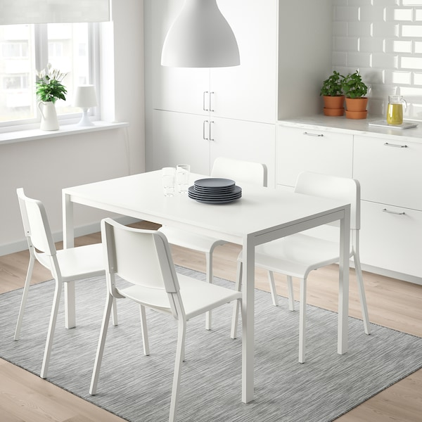 Table and 4 chairs MELLTORP / TEODORES white