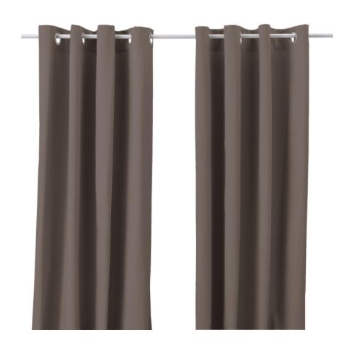MERETE Curtains, 1 pair IKEA Thick fabric helps to darken the room and reduce sound.