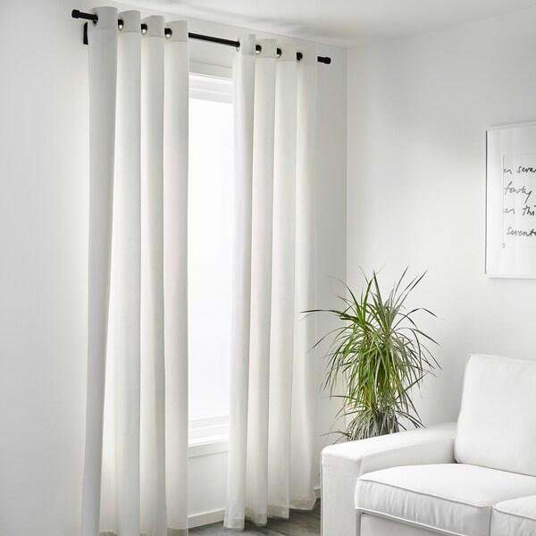 "MERETE room darkening curtains, 1 pair white 98 "" 57 "" 5 lb 1 oz 39.07 sq feet 2 pack"