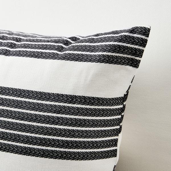 "METTALISE Cushion cover, white/dark gray, 16x26 """
