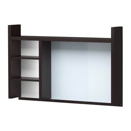 MICKE Add-on unit-high, black-brown black-brown 41 3/8x25 5/8