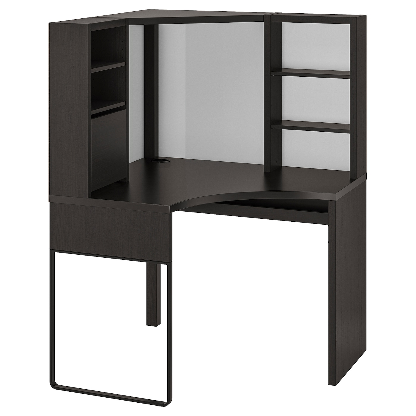 Image of: Micke Corner Workstation Black Brown 39 3 8×55 7 8 Ikea