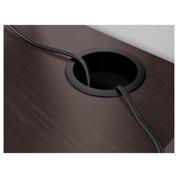 "MICKE Desk, black-brown, 28 3/4x19 5/8 """