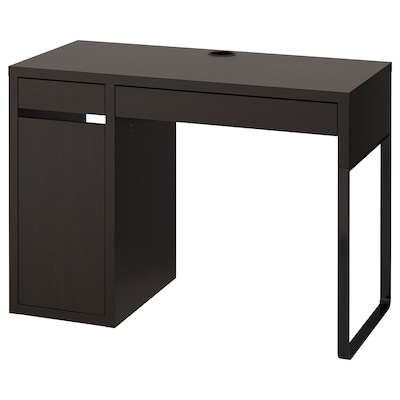 MICKE Desk, black-brown, 41 3/8x19 5/8 ""