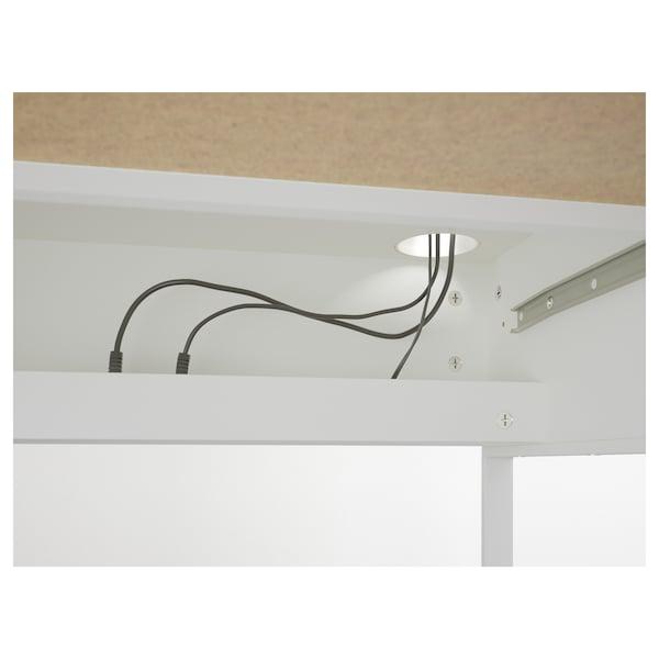 """MICKE desk white 55 7/8 """" 19 5/8 """" 29 1/2 """" 110 lb"""
