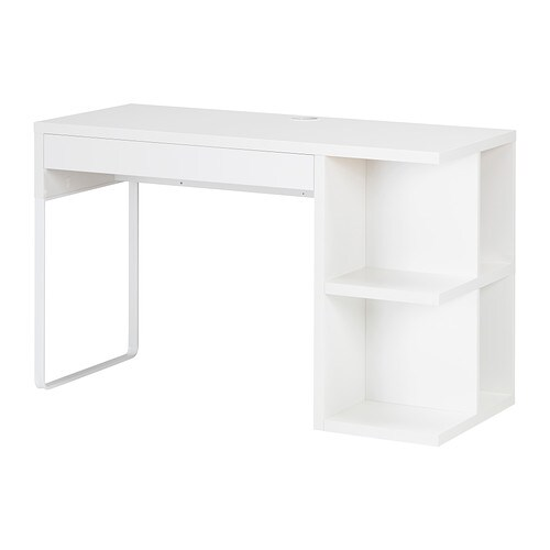 micke desk with integrated storage white ikea. Black Bedroom Furniture Sets. Home Design Ideas