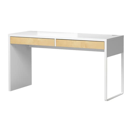 MICKE Desk IKEA A long table top makes it easy to create a workspace for two.